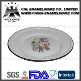 Factory Wholesale White Color Decal Printed Steel Enamel Plate