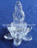 Crystal Buddha with Lotus Base