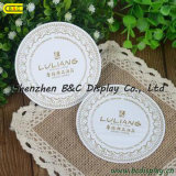 Restaurant Order Pad and Cup Coasters White Round Paper Doilies (B&C-G042)