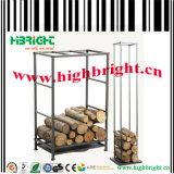 Metal Firewood Storage Rack for Warehouse