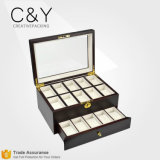 Custom Luxury 20 Slots Wooden Wrist Watch Storage Box Wholesale