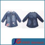 Girl′s Denim Long Coat out Wear (JT5007)