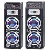 Double 10 Inch Colourful LED Light Woofer Active Digital Speaker