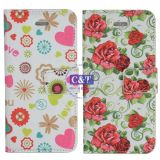Lovely Heart Printing PU Leather Covers for iPhone 5