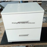 Bedroom Furniture High Glossy White Nightstands Bedside Table