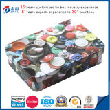 Colorful Small Mints Tin Box with Hinge