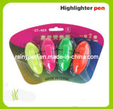 4pk Novelty Highlighterpen, Fluorescent Pen (423) , Mini Highlighter Pen