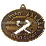 Customized Antique Gold Plating Raised Text Medallion