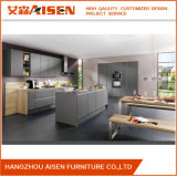 Grey Color Lacquer Finish High Gloss Anti-Scratch Kitchen Cabinets