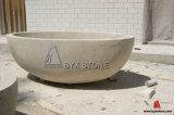 Chinese Beige Limestone Marble Bathtub for Bathroom Furniture