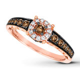 Rose Gold Plating Jewelry 925 Silver Rings Semi Gemstone