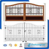 Wrought Iron Door Design / Powder Coated Security Galvanized Steel Gate