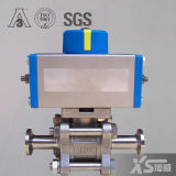 Stainless Steel Pneumatic Actuator Hygienic Three-Piece Ball Valves