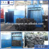 Hydraulic Double Cylinders Vertical Waste Tyre Compress Baler