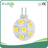 G4 LED for Cooker Hood 6SMD5050 Disk AC/DC12-24V Warm White