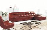 Home/Living Room Furniture-Modern Leather Corner Sofa (887)