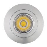Lathe Aluminum GU10 MR16 Round Fixed Recessed LED Downlight (LT2112)