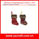 Christmas Decoration (ZY16Y211-1-2 14.5CM) Fancy Christmas Seasonal Sock Family Christmas