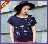 Fashion Sexy Cotton Printed T-Shirt for Women (W289)