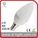 4W C37 High Lumen Ceramic LED Candle Light