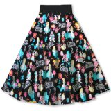 Vintage Inspired Ladies Party Latest Floral Skirts Alice Printed