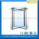 Clear Revolving Glass Door