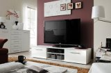 Matt White / Black Lacquer Finish Contemporary TV Unit BETL-08