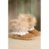 Double Face Sheepskin Women′s Boots for Winter