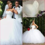 Crystal Bridal Ball Gowns Red White Pink Tulle Puffy Real Wedding Dress Rr9009