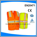 High Visibility Vest Reflective Safety Vest with Pockets Accept Customized