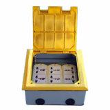 180*180mm Square Golden 10gang 120type Open Type Floor Socket