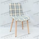 Modern Metal Imitation Wood Grain Lounge Dining Chair for Banquet and Hotel (YC-F35)