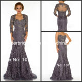 3/4 Sleeves Bolero Mermaid Mother Dress Lace Evening Gowns M14410