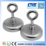 Strong N48 D41.275X17mm Xm3 Hole NdFeB Pot Magnet