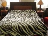Printing Knitted Korean Raschel Mink 100% Acrylic Blanket