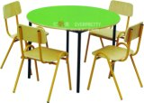 Baby Room Furniture /Children Wood Table with Plastic Chairs /Baby Kids Round Desk for Four Kid′s (SF-11K)