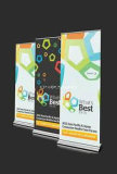 Professional Standard Economy Retractable Banner Stand with Banner Customed Printed