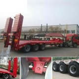 2 Axles Excavator Lowboy Trailer / Lowbed Semi Trailer Price