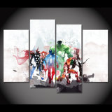 HD Printed The Avengers Watercolor Painting Painting on Canvas Decoration Print Poster Picture Canvas Framed Mc-095
