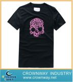 Beautiful Black Short Sleeve T-Shirt with Pink Printing