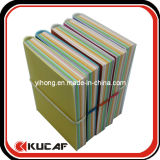 PU Note Book with Colorful Pages