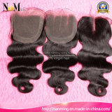 Three Way Part Closure 5X5 Body Wave Virgin Malaysian Human Hair Middle Part Lace Closure
