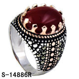 Silver Jewelry New Models 925 Silver Maracsite Rings for Men.