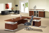 MDF Veneer Glossy Executive Office Table Wooden Office Furniture (HX-G0157)