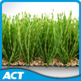 Bi-Color Synthetic Turf Recyclable Backing Soccer Playgrounds Kids Friendly