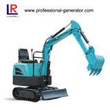 16MPa 7.4kw Rubber Crawler Excavator