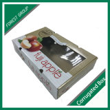 Glossy Finish Printed Fruit Apple Box with PVC Window