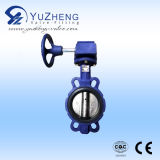 Cast Iron Wafer Type Butterfly Valve with Worm Gear