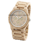 Custom Best Quality Waterproof Maple Chrono Wooden Watches for Men