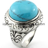 Cheap Wholesale 316 Stainless Steel Turquoise Ring